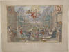 Set of seven allegorically optical prints